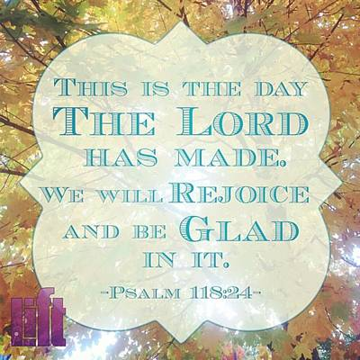 Design Wall Art - Photograph - Give Thanks To The Lord, For He Is by LIFT Women's Ministry designs --by Julie Hurttgam