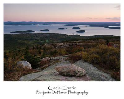 Autumn Photograph - Glacial Erratic by Benjamin DeHaven