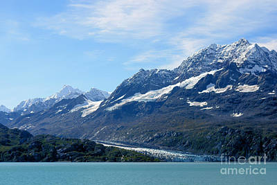 Photograph - Glacier Bay Seascapes. Johns Hopkins Glacier by Connie Fox