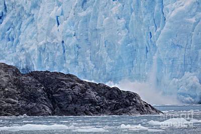 Photograph - Glacier Calving by Steve Javorsky
