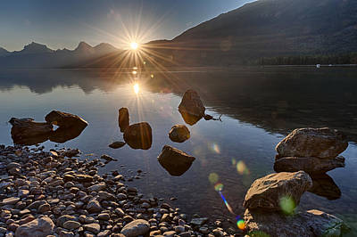 Art Print featuring the photograph Glacier National Park 100th Anniversery by Kevin Blackburn