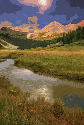 Painting - Glacier National Park In Autumn by Andrea Mazzocchetti