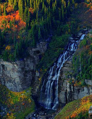 Photograph - Glacier Waterfall by Roy Nierdieck