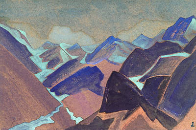 Snowing Painting - Glaciers Of Lahul by Nicholas Roerich