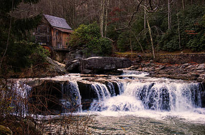 Digital Art - Glade Creek Grist Mill by Chris Flees