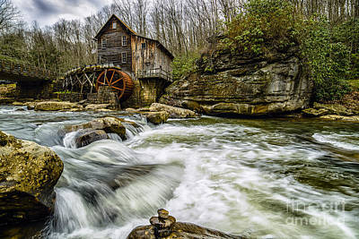 Glade Creek Grist Mill Art Print by Thomas R Fletcher