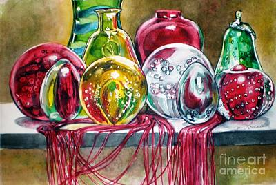 Painting - Glass And Tassel by Jane Loveall