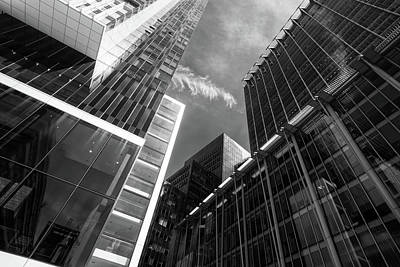 Photograph - Glass Business Window Building Abstract London by John Williams
