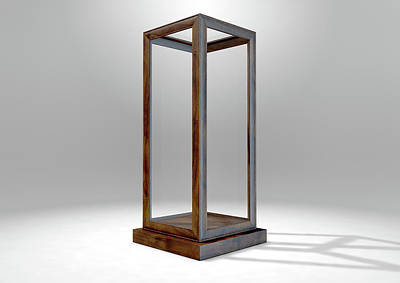 Business Digital Art - Glass Display Case Verticle by Allan Swart