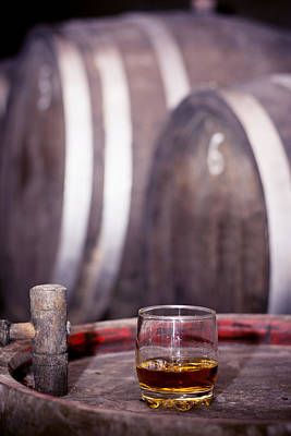 Photograph - Glass Of Whiskey In Distillery by Newnow Photography By Vera Cepic