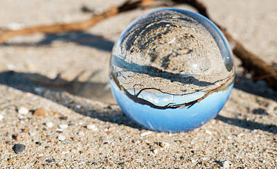 Photograph - Glass Sphere With Hellevoetsluis Lighthouse by Compuinfoto