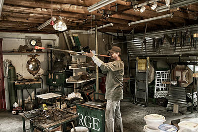 Hand Crafted Photograph - Glassblower Sessions 10 by Nathan Larson