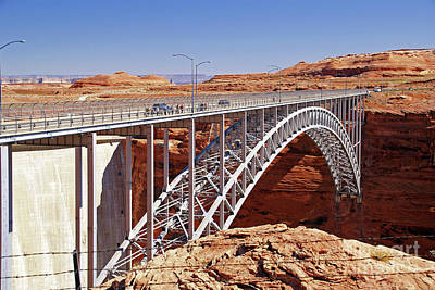 Photograph - Glen Canyon Bridge by Rod Jones