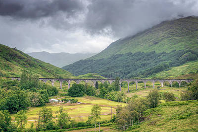 Photograph - Glenfinnan Viaduct by Ray Devlin