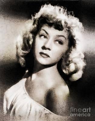 Gloria Painting - Gloria Grahame, Vintage Actress By John Springfield by John Springfield