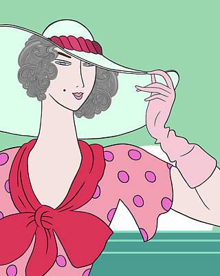 Digital Art - Gloria Miami Deco by Nancy Lorene