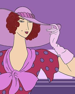 Digital Art - Gloria Parisian Purples by Nancy Lorene