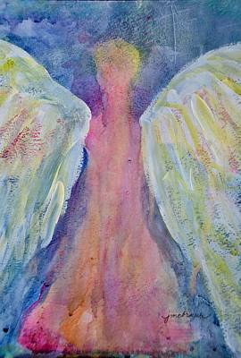 Glowing Angel Art Print by Jeanne MCBRAYER