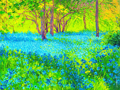 Painting - Glowing Bluebonnets by Judith Barath