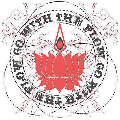 Go With The Flow Lotus Flower Art Print