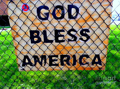 Digital Art - God Bless America by Ed Weidman