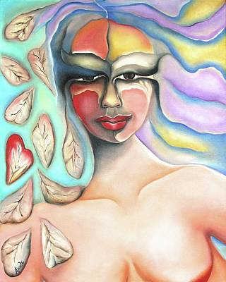 Painting - Goddess Of Seasons by Janice Aponte