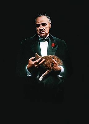 Scary Digital Art - Godfather The Trilogy 1972-1990 by Fine Artist