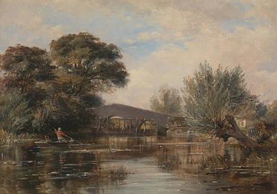 Painting - Godstow Bridge Near Oxford by Edward William Cooke