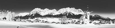 Black Is Beautiful Wall Art - Photograph - Going Am Wilden Kaiser, Austria In Winter by Bernie