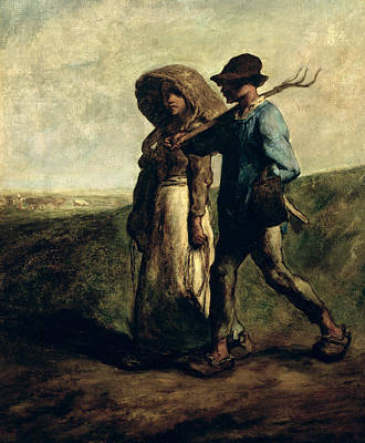 Going To Work Art Print by Jean Francois Millet
