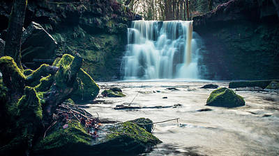 Photograph - Goit Stock Waterfall by Andy Beattie Photography