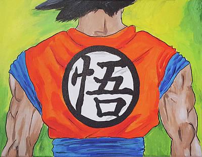 Goku Kanji Art Print