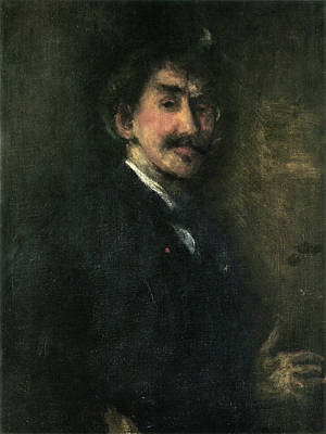 James Painting - Gold And Brown - Self-portrait by James Abbott McNeill Whistler