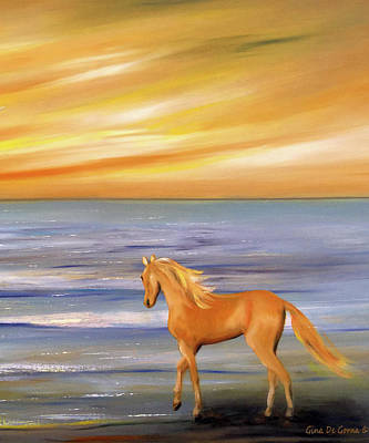 Painting - Gold And Silver by Gina De Gorna