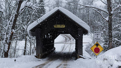 Photograph - Gold Brook Covered Bridge/stowe Hollow Bridge/emily's Bridge by New England Photography
