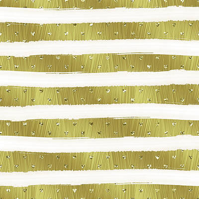 Photograph - Gold Hearts Stripes by Ps