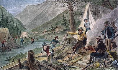 Sierra Gold Photograph - Gold Mining, 1853 by Granger