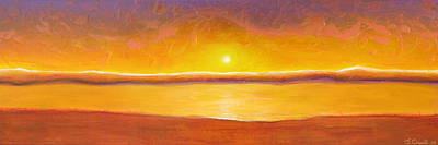 Gold Sunset Art Print by Jaison Cianelli