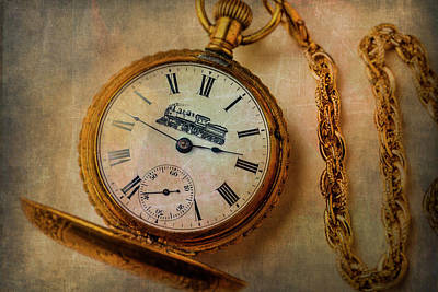 Photograph - Gold Train Watch by Garry Gay