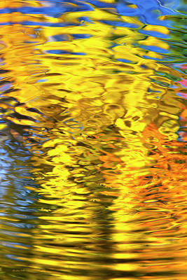 Photograph - Gold Waves Abstract by Christina Rollo