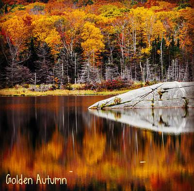 Open Impressionism California Desert - Golden Autumn by Black Brook Photography
