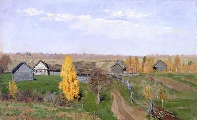 Golden Autumn - Slovakia Art Print by Isaac Levitan