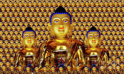 Photograph - Golden Buddha by Bob Christopher