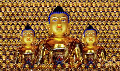 Photograph - Golden Buddha by Bob Christopher
