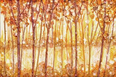Painting - Golden Forest by Jennifer Allison