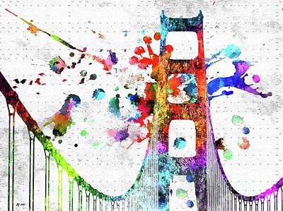 Mixed Media - Golden Gate Bridge by Daniel Janda
