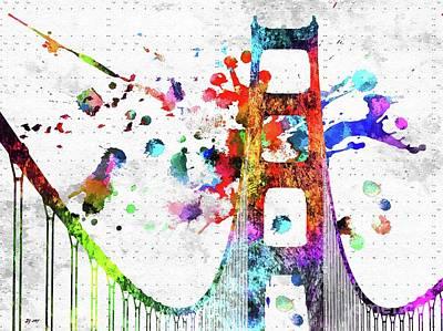 Mixed Media - Golden Gate Bridge by Daniel Janda