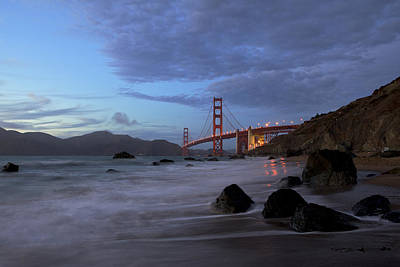 Print featuring the photograph Golden Gate Bridge by Evgeny Vasenev