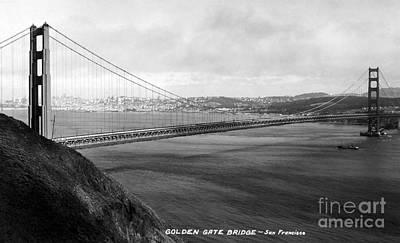Bay Bridge Photograph - Golden Gate Bridge by Granger