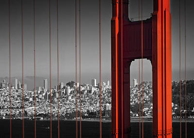 Golden Gate Bridge Panoramic Print by Melanie Viola